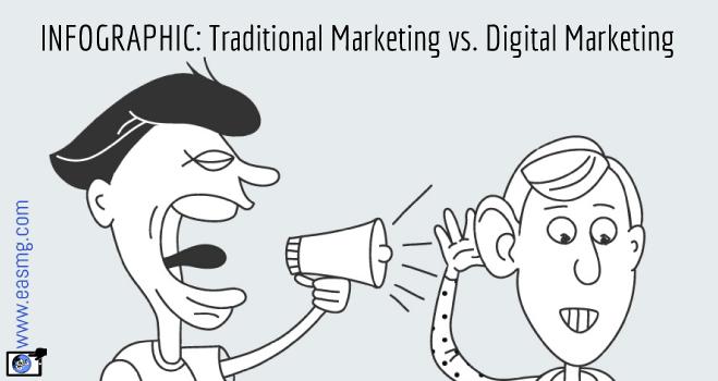Infographic Traditional Vs Digital Marketing