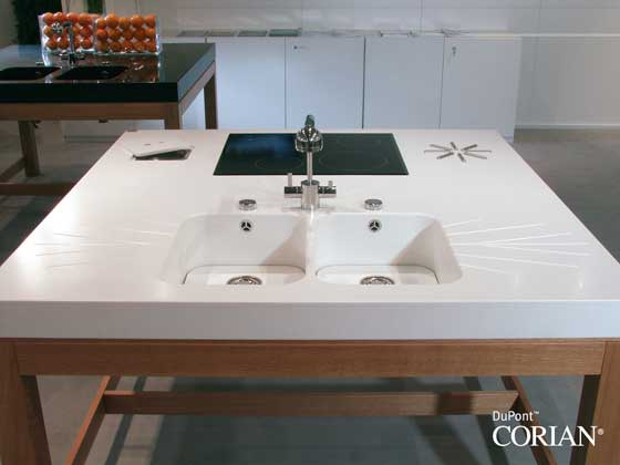 Beautiful practical kitchen design dupont corian s - Corian de dupont ...